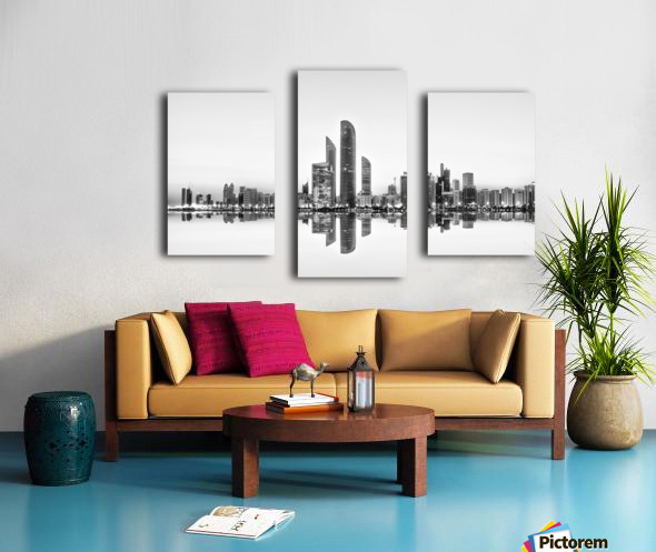 Abu Dhabi Urban Reflection Canvas print