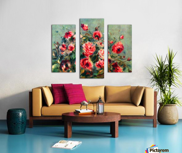 Still life roses of Vargemont Canvas print