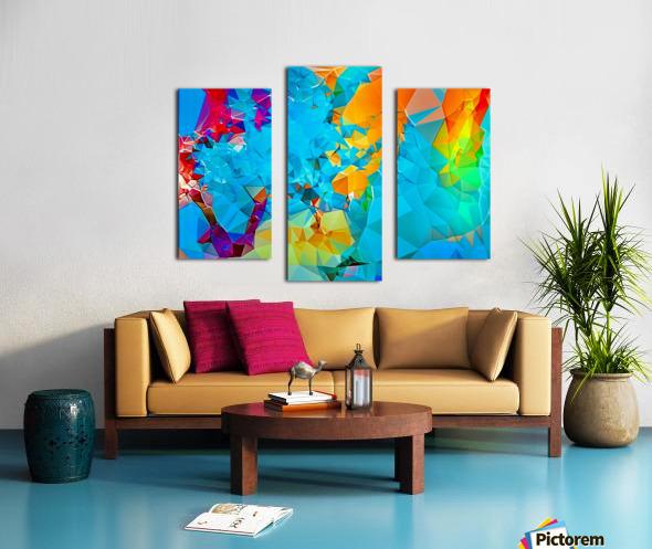 Berry Lush Blooms Canvas print