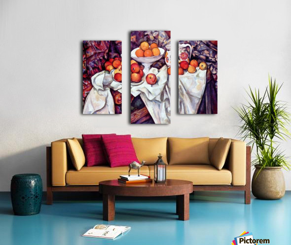 Still Life with Apples and Oranges by Cezanne Canvas print