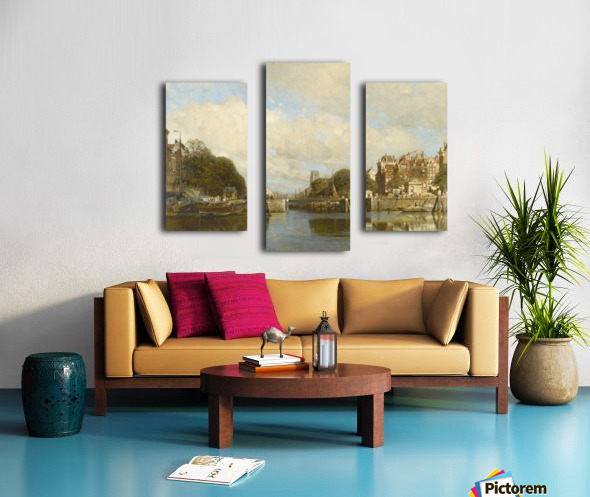 Rotterdam, with the Laurenskerk in the background Canvas print