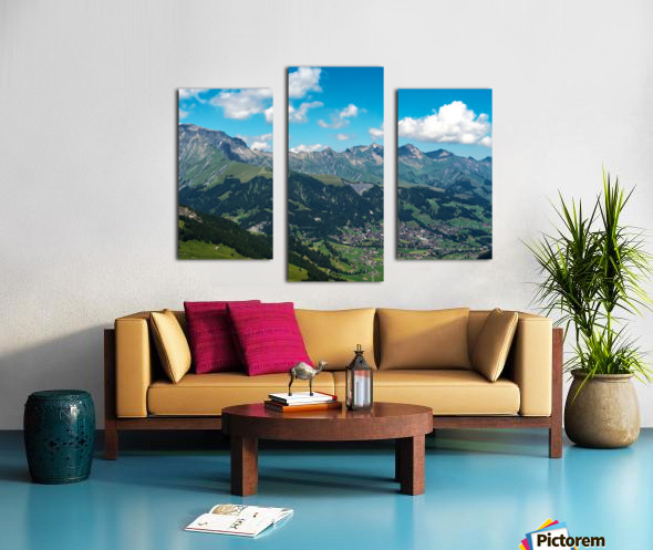 The Bernese Alps Switzerland Canvas print