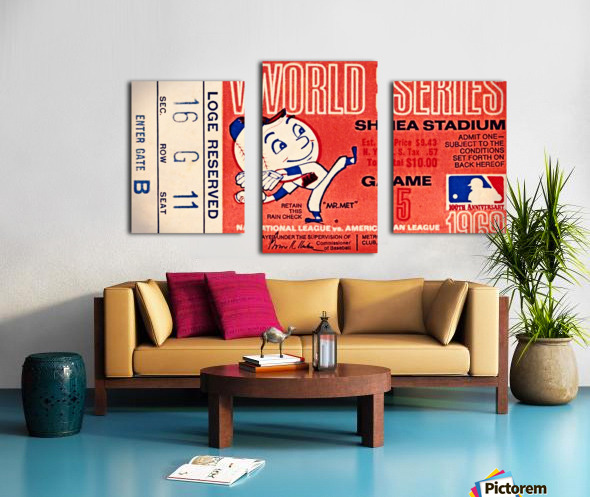 1969 New York Mets Game 5 Ticket Art Canvas print