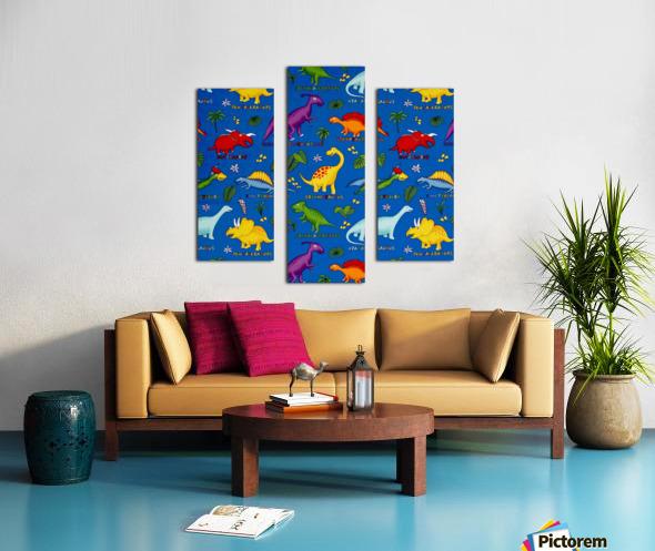 Dinosaurs Royal-Multi Canvas print