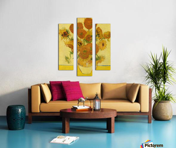 Still life with sunflowers by Van Gogh Canvas print