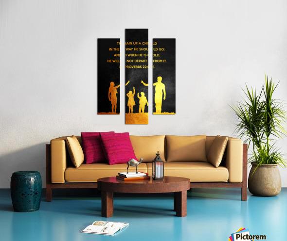 Proverbs 22:6 Bible Verse Wall Art Canvas print