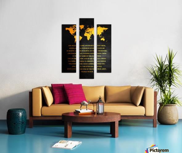 Matthew 28:18-20 Bible Verse Wall Art Canvas print