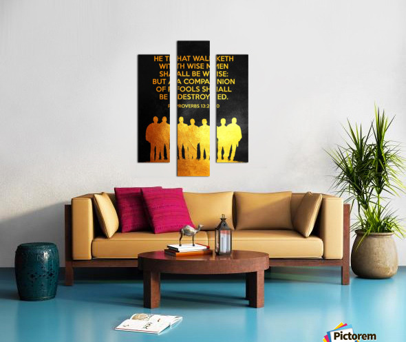 Proverbs 13:20 Bible Verse Wall Art Canvas print