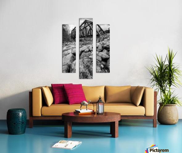 Train Bridge ap 2225 B&W Canvas print