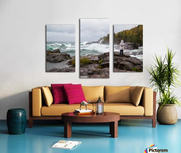 Crashing Waves ap 2605 Canvas print