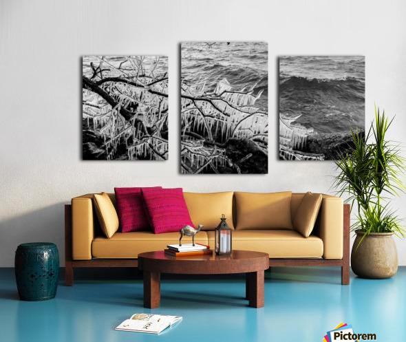 Splash Icicles ap 2147 B&W Canvas print
