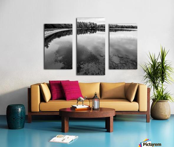 Reflection ap 2595 B&W Canvas print