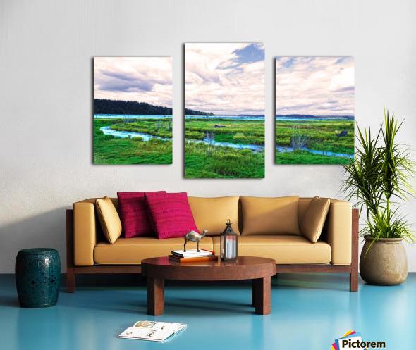 The Estuary in Fall Canvas print