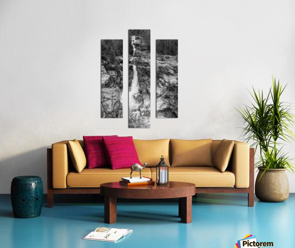 Silver Cascade Falls ap 2226 B&W Canvas print