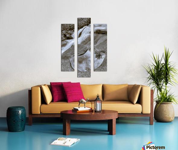 Waterfall ap 2212 B&W Canvas print