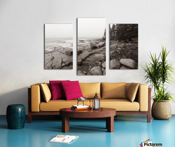 Boulders ap 2256 B&W Canvas print