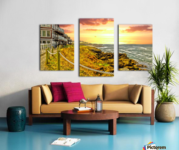 Depoe Bay On the Oregon Coast - Art Style Canvas print