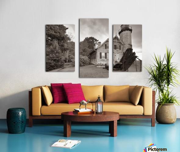 White River Light ap 2449 B&W Canvas print