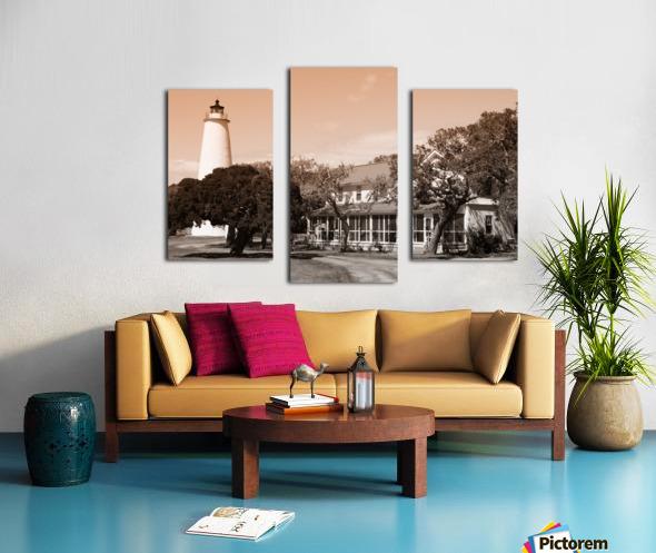 Ocracoke Light ap 1743 B&W Canvas print