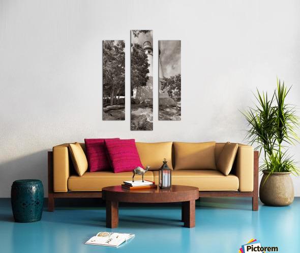 Marblehead Lighthouse ap 2400 B&W Canvas print