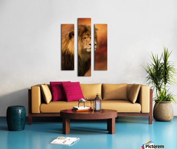 Lion Legacy - Lion Art by Jordan Blackstone Canvas print