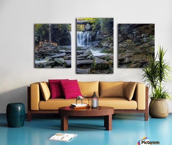 Elakala Falls and Bridge apmi 1775 Canvas print
