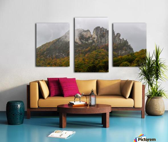 Seneca Rocks apmi 1881 Canvas print