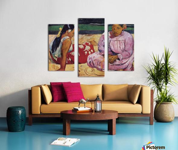 Tahitian Women on Beach by Gauguin Canvas print