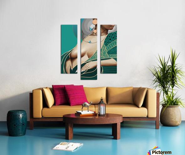 The Greens Canvas print