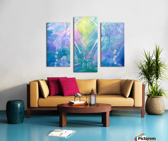 Gemini Angels Canvas print