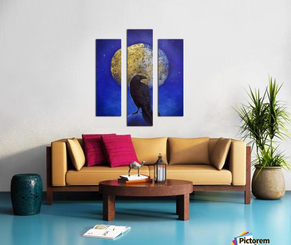 Raven Shine Canvas print