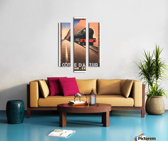 Cote D'Azur Pullman Express Canvas print