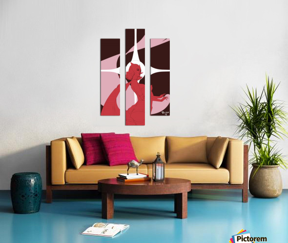 Scarlet Witch Flats Canvas print