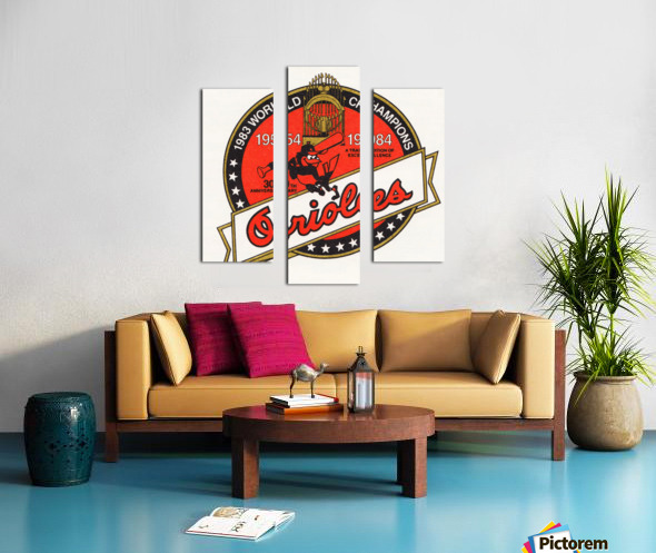 1983 Baltimore Orioles World Champions Art Canvas print