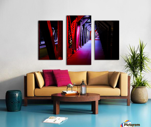 Tunnel of Red Rain Canvas print