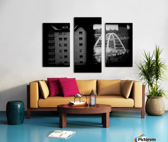 Building and Bridge Canvas print