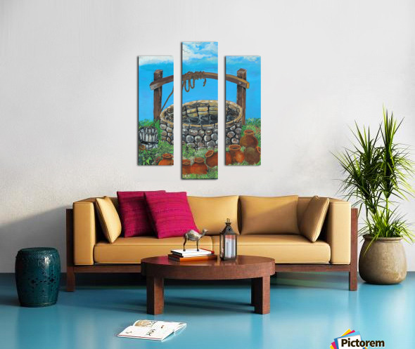 A lonely well Canvas print