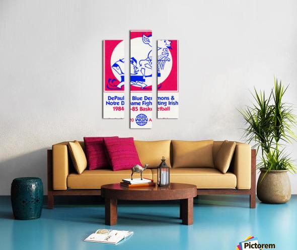 1984 DePaul Notre Dame Basketball WGN Poster Canvas print