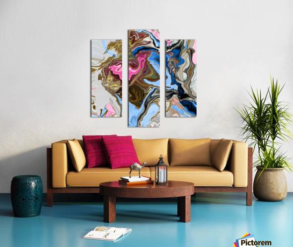 bluepour Canvas print