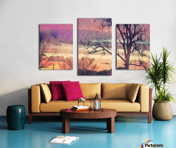 winter sky lavender Canvas print