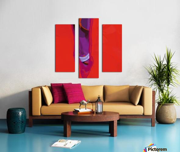 Violet Shape Canvas print
