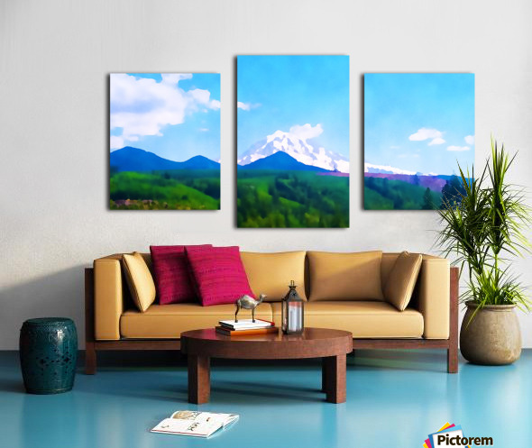 mt ranier clouds Canvas print