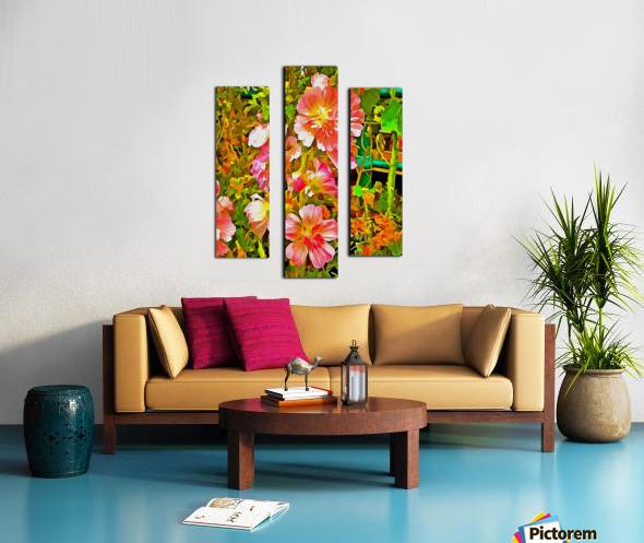 Penstemon Pop Art Style Canvas print