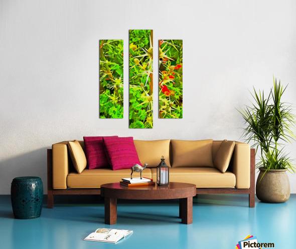 Eryngium Pop Art Style Canvas print