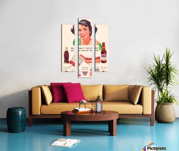 Vintage St. Louis Sportsman Park Concessions Ad Canvas print