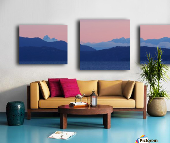 Pink And Blue by Randy Hall Canvas print