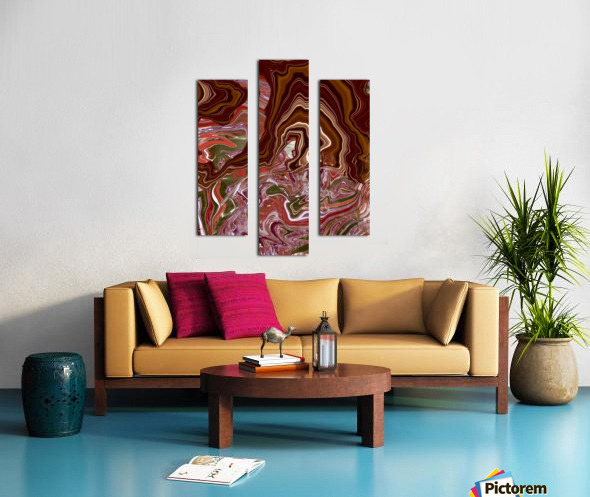 Ribbon candy and the  chocolate fountain  Canvas print