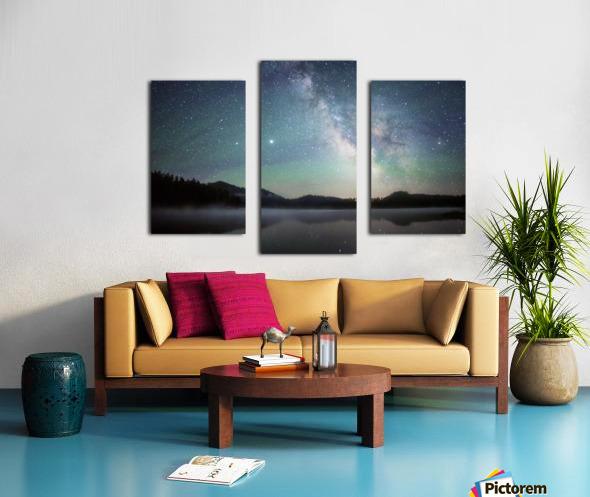 Stockade Lake and The Milky Way Canvas print