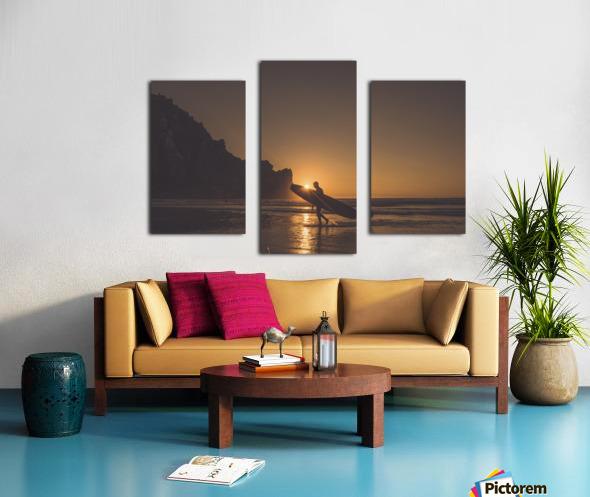 Morro Bay Surfer Canvas print