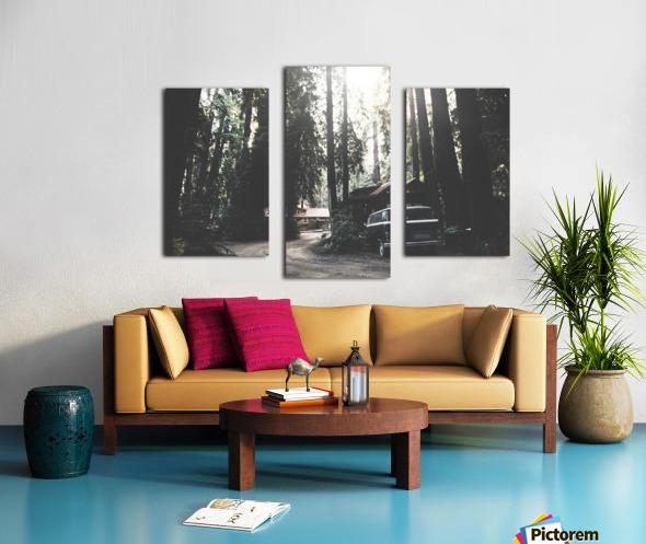 Big Sur Camping Canvas print